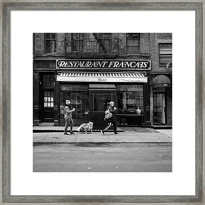 Raoul's In Black And White Framed Print