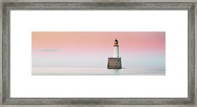 Framed Print featuring the photograph Rattray Lighthouse Sunset- Scotland by Grant Glendinning