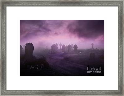 Rave In The Grave Framed Print