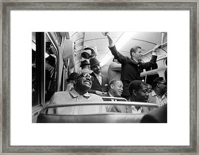 Ray Charles On His Tour Bus Framed Print