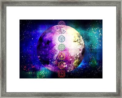 Framed Print featuring the digital art Reach Out To The Stars by Bee-Bee Deigner