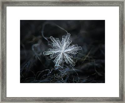 Framed Print featuring the photograph Real Snowflake - 18-dec-2018 - 3 by Alexey Kljatov