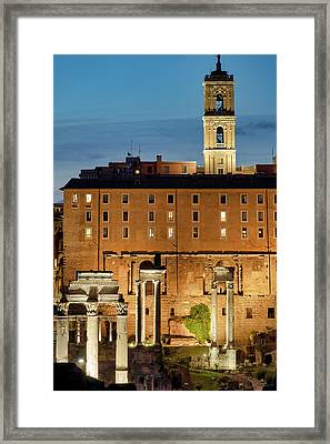 Framed Print featuring the photograph Rear View Of The Campidoglio by Fabrizio Troiani