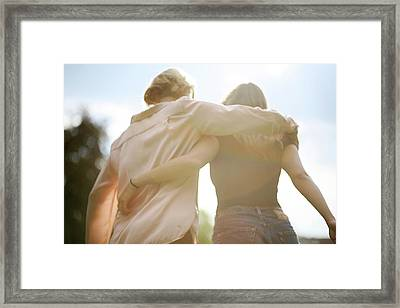 Rear View Of Women Walking Arm Around Framed Print by Ba Hoang Duong Ly / Eyeem