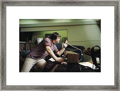 Recording Pet Sounds Framed Print by Michael Ochs Archives