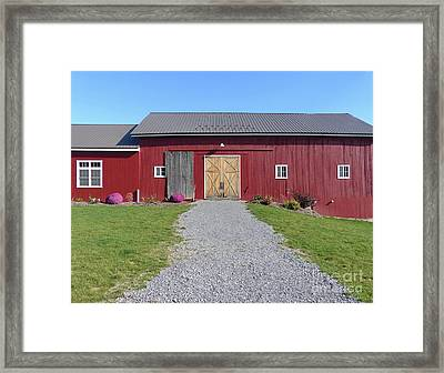 Framed Print featuring the photograph Red Barn by Rosanne Licciardi