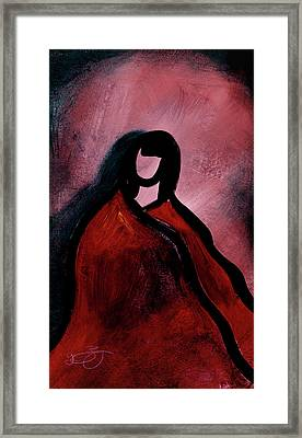 Red Blanket Framed Print