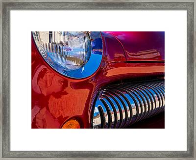 Red Car Chrome Grill Framed Print