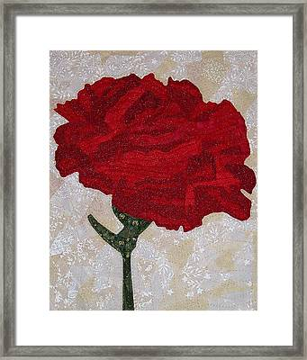 Red Carnation Framed Print