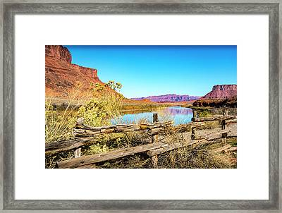 Framed Print featuring the photograph Red Cliffs Canyon by David Morefield