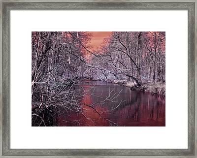Red Creek Framed Print