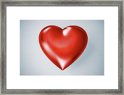 Red Heart, Artwork Framed Print by Leonello Calvetti