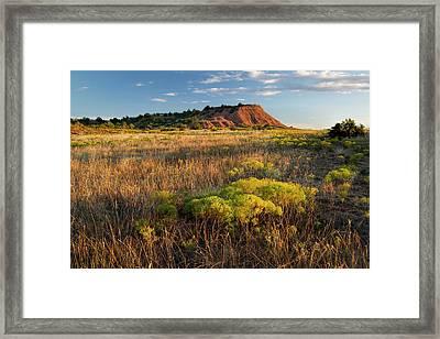 Framed Print featuring the photograph Red Hills Evening by Scott Bean
