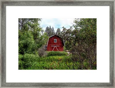 Red House Over Yonder Framed Print