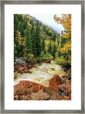 Red Mountain Creek In San Juan Mountains Framed Print