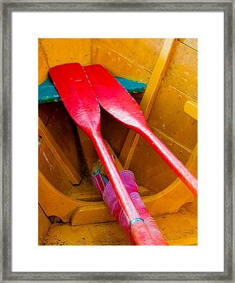 Red Oars Framed Print