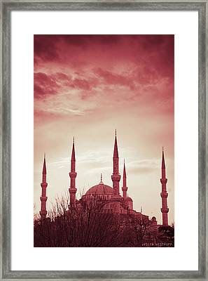 Red Peace Framed Print