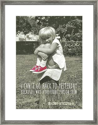 Red Sneakers Quote Framed Print by JAMART Photography