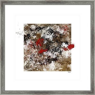 Red Splashes Framed Print