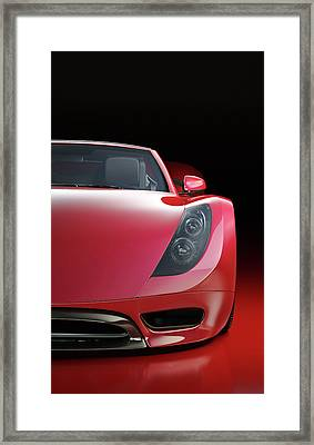 Red Sports Car Framed Print by Mevans