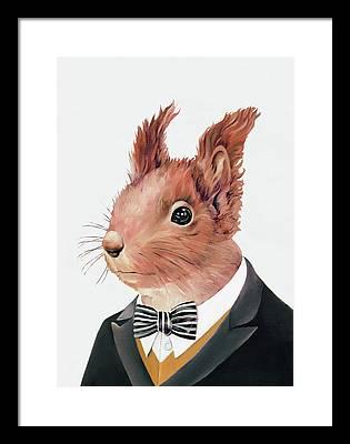 Squirrel Framed Prints