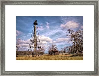 Framed Print featuring the photograph Reedy Island Range Rear Light by Kristia Adams