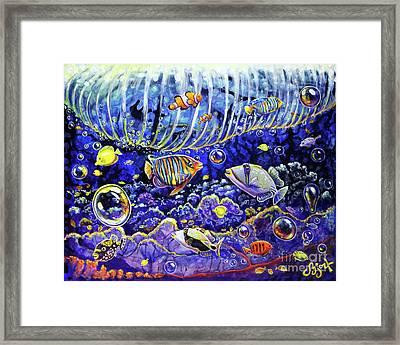 Reef Break Framed Print