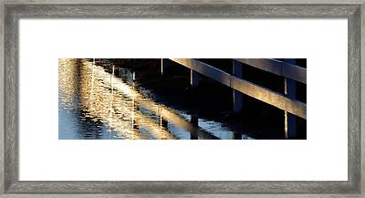 Framed Print featuring the photograph Reflected Fence At Sunrise P by Jerry Sodorff