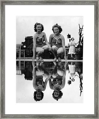 Reflected Twins Framed Print
