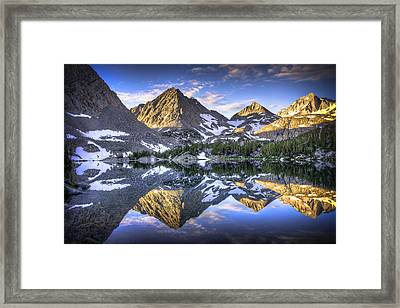 Reflection Of Mountain In Lake Framed Print