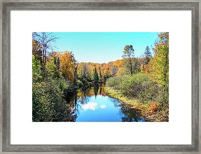 Reflections Of Fall In Wisconsin Framed Print