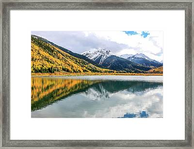 Reflections On Crystal Lake 1 Framed Print