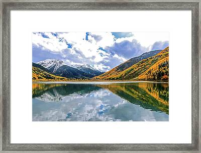 Reflections On Crystal Lake 2 Framed Print
