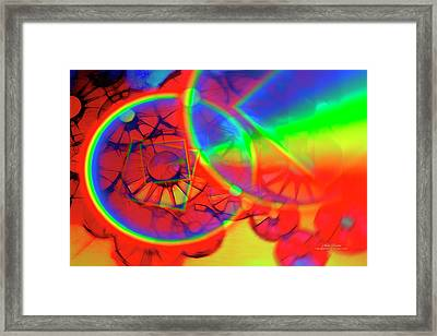 Refracting The Wheel Framed Print