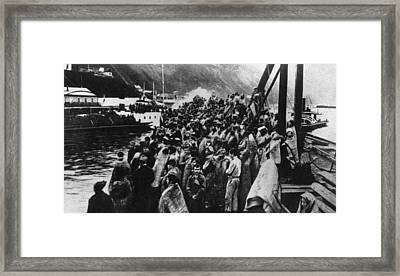 Refugees Framed Print by Hulton Archive