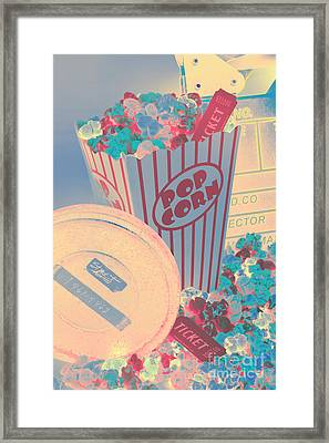 Retro Flicks Framed Print