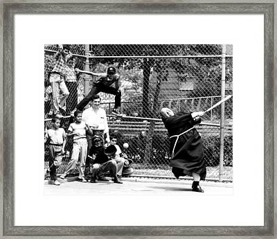 Rev. Capistran Ferrito, Of Our Lady Framed Print by New York Daily News Archive