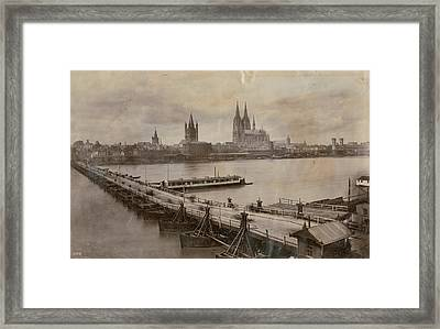 Rhine In Cologne Framed Print by Hulton Archive