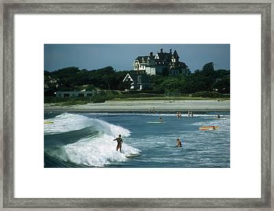 Rhode Island Surfers Framed Print