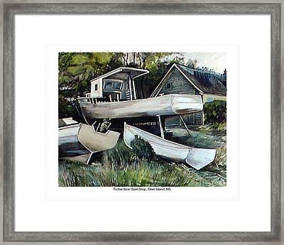 Richardson Boat Shop Framed Print
