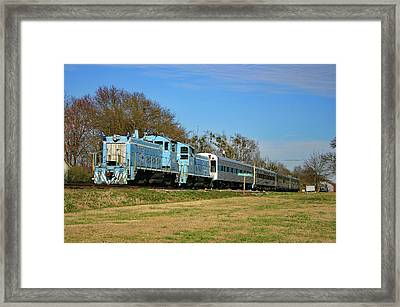 Framed Print featuring the photograph Richburg Streamliner Express by Joseph C Hinson Photography