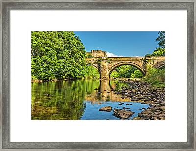 Richmond Castle And The River Swale Framed Print by David Ross