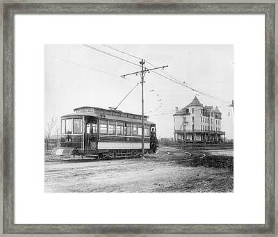 Richmond Tram Framed Print by Authenticated News