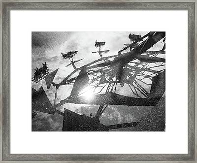 Ride Reflection Framed Print