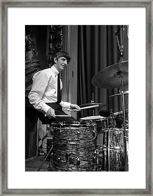 Ringo Starr, Drummer Of The Beatles Pop Framed Print