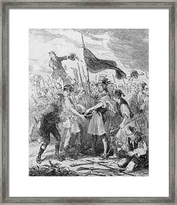 Rioters Bloody Hands Framed Print by Hulton Archive