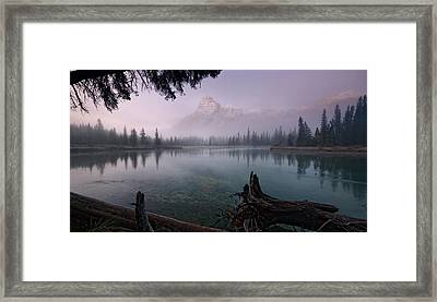 Rising From The Fog Framed Print