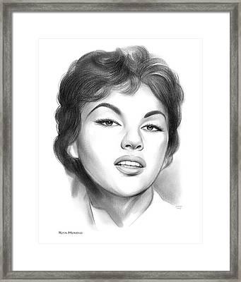 Rita Moreno Framed Print