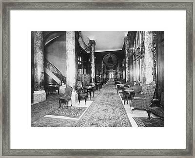 Ritz Interior Framed Print by H. C. Ellis