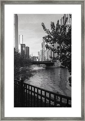River Fence Framed Print